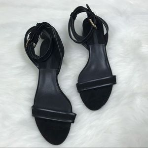 NEW Zara Basic Block Heel Ankle Strap Sandals NWT